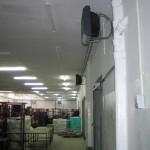 Instalacja wodnych nagrzewnic powietrza.
