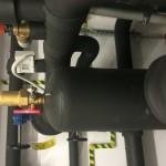 Separator powietrza na instalacji dolnego źródła.